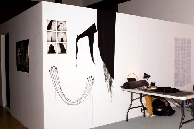 Hrafnhildur Halldórsdóttir's studio space, Mackintosh Museum, GSA, Three Points of Contact Residency (2012)