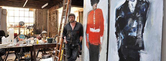 Marcus Harvey in his Studio - Photo: Brian Benson