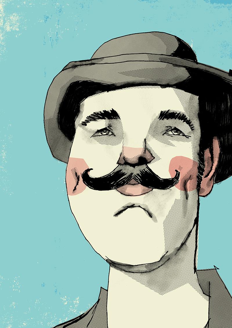 Alexander Jackson - Self-portrait for Movember